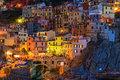 Sunset In Manarola Royalty Free Stock Images - 69951219