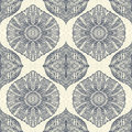 Seamless Pattern In  Zen-doodle Style Black On White Stock Photography - 69958012