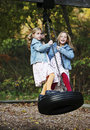 Tire Swing Fun Royalty Free Stock Photos - 705048