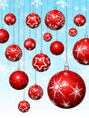 Hanging Baubles On Snowflakes Stock Image - 7006281