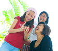 Family Of Three Girls In Fun Expression Royalty Free Stock Photography - 7007177