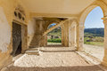 Arches, Entrance And Stairs Of Derelict Agios Georgios Church, D Royalty Free Stock Images - 70001419