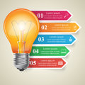 Business Infographics Origami Style Vector Illustration. Bulb Icon. Stock Photo - 70008780