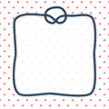 Navy Blue Rope Square Frame With A Knot On Dotted White Background, Vector Stock Photos - 70013423