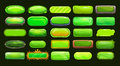 Funny Cartoon Green Long Horizontal Buttons Royalty Free Stock Images - 70014409