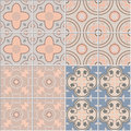 Set With Ornamental Tiles Backgrounds Stock Photography - 70027792