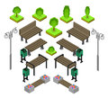 Bench. Outdoor Park Benches Icon Set. Royalty Free Stock Image - 70030626