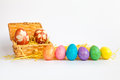 The Easter Eggs  In The Box Stock Image - 70034811