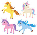 Horse, Pony And Unicorn Set Royalty Free Stock Images - 70035709