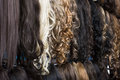 Clip-in Hair Extensions In Wig Shop Stock Image - 70040421