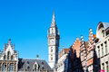 Details Of Old Post Office Building With The Clock Tower, Ghent, Belgium Royalty Free Stock Photo - 70040925