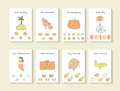 Cute Hand Drawn Doodle Baby Shower Cards Royalty Free Stock Image - 70047326