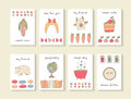 Cute Hand Drawn Doodle Baby Shower Cards Royalty Free Stock Photo - 70047335