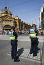 Victoria Police Constable Providing Security During Australia Day Parade In Melbourne Stock Photo - 70054270