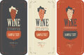 Labels For Wine With Grapes Stock Images - 70059694
