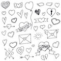 Set Of Hearts Hand Drawn For Your Design Stock Images - 70071314