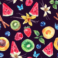 Tropical  Seamless Watercolor Pattern Stock Image - 70076281