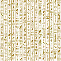 Seamless Pattern With Hieroglyphs Royalty Free Stock Photography - 70077617