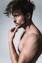Fit Thinking Man Profile Stock Images - 70088444