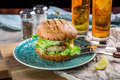 Sandwich With Chicken Burger, Cheese And Lettuce Royalty Free Stock Image - 70099306