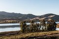 Group Of Trees With Lake And Mountain In Chula Vista Royalty Free Stock Photo - 70101205