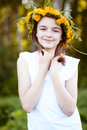 Beautiful Little Girl, Outdoor, Color Bouquet Flowers, Bright Sunny Summer Day  Park Meadow Smiling Happy Enjoying Life Stock Photos - 70117363
