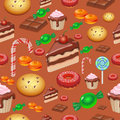 Candy, Sweets And Cakes Seamless Pattern Background,  Vector Illustration Royalty Free Stock Image - 70137326