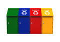 Multicoloured Garbage Trash Bins Royalty Free Stock Photography - 70138297