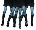 Four Female Legs In Lace Stocking Royalty Free Stock Photography - 7021577