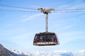 The Cabin Of Aiguille Du Midi Cable Car, France Stock Photo - 70219950