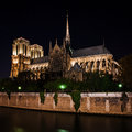 Notre Dame De Paris Cathedral At Night, France Royalty Free Stock Photography - 70234437