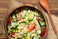 Brown Rice And Vegetable Salad Stock Images - 70274784