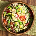 Brown Rice And Vegetable Salad Royalty Free Stock Images - 70274819