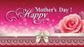Greeting Card With A Rose On Mother S Day Stock Photo - 70280250