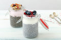 Chia Pudding Royalty Free Stock Photo - 70319395