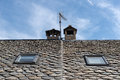 Slate Roof Detail Stock Images - 70346334