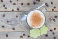 Coffee Latte With Matcha Cookies, Top View Royalty Free Stock Images - 70369529