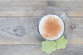 Coffee Latte With Matcha Cookies, Top View, Copy Space Stock Photos - 70369533