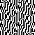 Vector Hipster Abstract Geometry Pattern, Black And White Seamless Geometric Background, Subtle Pillow And Bad Sheet Print Stock Photos - 70380183