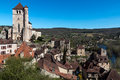 Saint Cirq Lapopie In Lot Department , French Village Stock Photography - 70383202