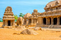 Ancient Hindu Monolithic Indian Sculptures Rock-cut Architecture Royalty Free Stock Photography - 70389677