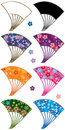 Japanese Fan Curve Set Royalty Free Stock Image - 70392236