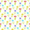 Seamless Floral Pattern With Small Flowers Stock Photos - 70394133