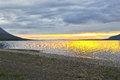 Sunset On A Lake In Siberia. Royalty Free Stock Photography - 70394677
