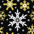 Vector. Seamless Ornament With Snowflakes Royalty Free Stock Images - 7040619