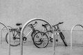 Bicycles On The Parking Lot Stock Image - 70414011