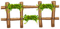 Wooden Fence With Plant Decoration Royalty Free Stock Image - 70443406
