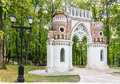 Curly Grape Gates. Museum-Reserve Tsaritsyno Stock Photo - 70458690