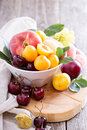 Summer Fruits In A Bowl Royalty Free Stock Photo - 70476015