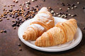 Two Croissant Royalty Free Stock Photo - 70480435